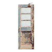 """Reclaimed Antique 30"""" Metal Door with Wire Glass"""