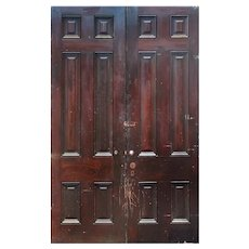 """Salvaged 59"""" Solid Wood Antique Door Pair"""