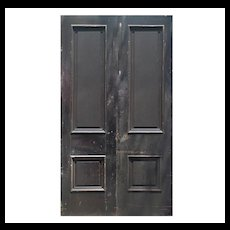 "Reclaimed 50"" Solid Wood Antique Door Pair"