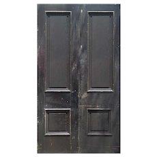 """Reclaimed 50"""" Solid Wood Antique Door Pair"""