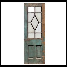 "Reclaimed 30"" Antique Door, Blue Horizon Boxing Venue"