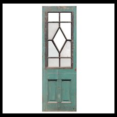 "Salvaged 30"" Antique Door, Blue Horizon Boxing Venue"