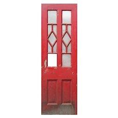 "Salvaged 29"" Antique Door, Blue Horizon Boxing Venue"