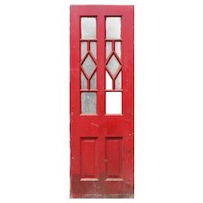 "Reclaimed 30"" Antique Door, Blue Horizon Boxing Venue"