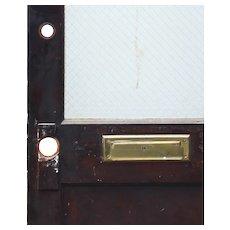 "Reclaimed Antique 27"" Door with Wire Glass"
