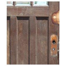 """Reclaimed 34"""" Door with Beveled Glass"""