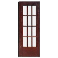 "Salvaged 30"" Divided Light Oak Door, Beveled Glass"