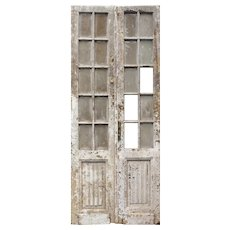 """Salvaged 40"""" Pair of French Doors"""