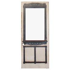 "Salvaged 34"" Eastlake Door, Late 19th Century"