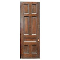 "Substantial Antique 36"" Oak Pocket Door, Manuel House c. 1910"