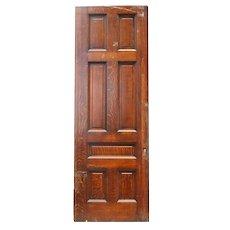 """Large Antique 36"""" Oak Pocket Door, Manuel House c. 1910"""