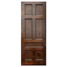 """Large Antique 42"""" Oak Pocket Door, Manuel House c. 1910"""
