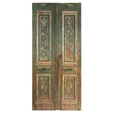"Pair of 46"" Antique Carved French Doors"
