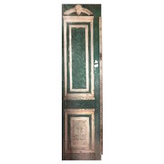 "Salvaged 28"" Door with Carved Details"