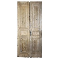 "Reclaimed Pair of Antique 42"" Doors"