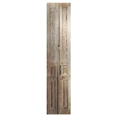 """Pair of Antique 21"""" Carved French Doors"""