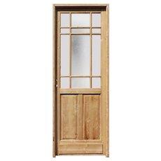 """Salvaged 32"""" Antique Door, c. 1910"""