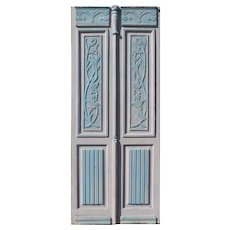 "Pair of 39"" Antique Carved French Doors"