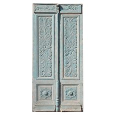 "Pair of 45"" Antique Carved French Doors"
