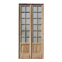 "Pair of Antique 51"" French Double Doors"