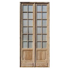 """Pair of Antique 51"""" French Double Doors"""