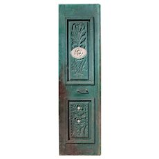 "Antique 26"" Door with Carved Details"
