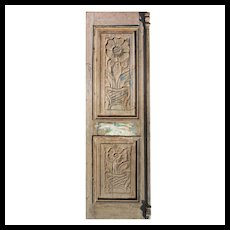 "Salvaged 29"" Door with Carved Details"