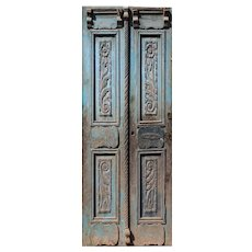 """Pair of 43"""" Antique Carved French Doors"""