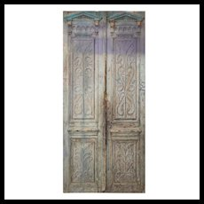 """Pair of 44"""" Antique Carved French Doors"""