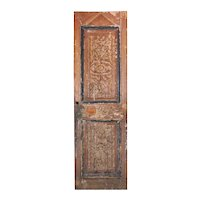 "Salvaged 27"" French Colonial Door with Carved Panels"