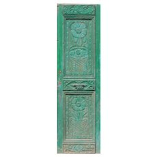 "Reclaimed 28"" Door with Carved Details"