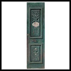 "Reclaimed 26"" Door with Carved Details"