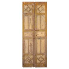 """Antique Pair of 39"""" Carved French Doors"""