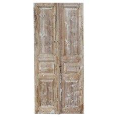 "Salvaged Pair of Antique 42"" Doors"