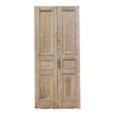 "Reclaimed Pair of Antique 42"" Doors"