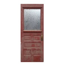 """Salvaged 31"""" Eastlake Door with Glue Chip Glass"""