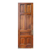 """Antique 35"""" Oak Door, Manuel House c. 1910"""