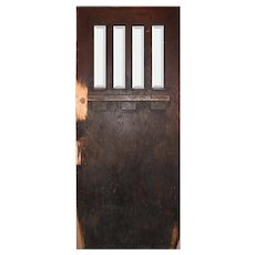 """Salvaged 36"""" Craftsman Entry Door with Beveled Glass"""