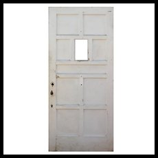 """Antique 36"""" Multi Panel Door with Window"""