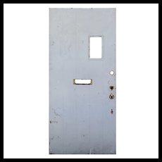"""Salvaged 36"""" Exterior Plank Door with Window"""