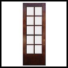 "Reclaimed 30"" Oak Divided Light Door"
