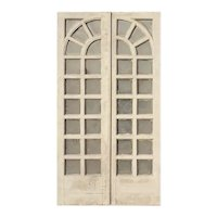 """Reclaimed Pair of Antique 45"""" Divided Light French Doors"""