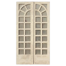 "Reclaimed Pair of Antique 45"" Divided Light French Doors"