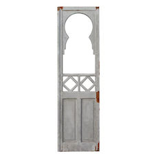 "Antique 25"" Door with Glass, Keyhole"