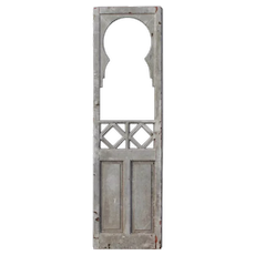 "Salvaged 25"" Door with Glass, Keyhole"