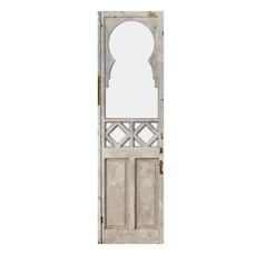 "Reclaimed 25"" Door with Glass, Keyhole"