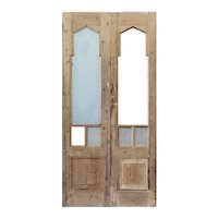 "Reclaimed 41"" Double Doors with Gothic Arch Windows"