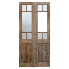 """Pair of Antique 44"""" French Double Doors"""