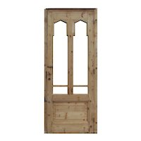 "Antique 32"" Door with Gothic Arch Windows"