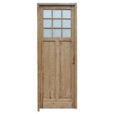"Reclaimed 32"" Door with Textured Glass, 19th Century"